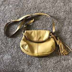 Lucky Brand yellow crossbody purse